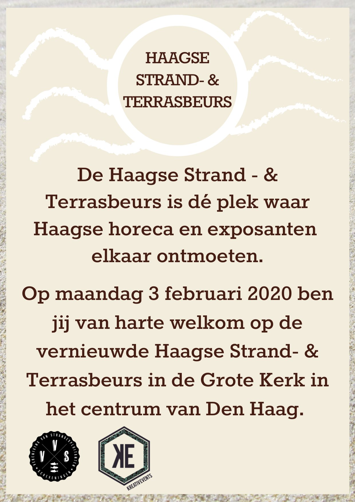 Strandpaviljoenenbeurs 3 februari 2020 13.00 - 17.00 uur Grote Kerk Den Haag
